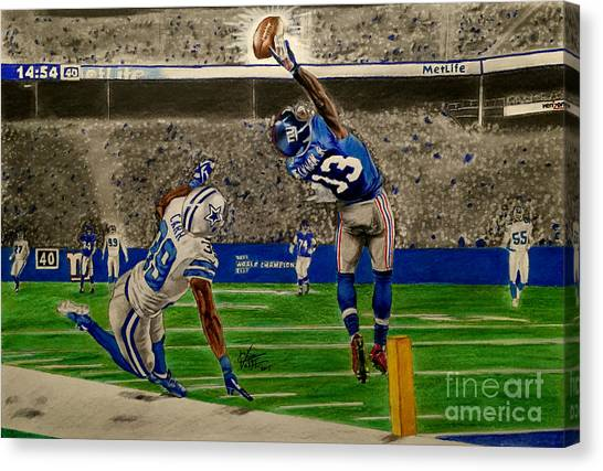 Odell Beckham Jr Canvas Print - The Catch - Odell Beckham Jr. by Chris Volpe