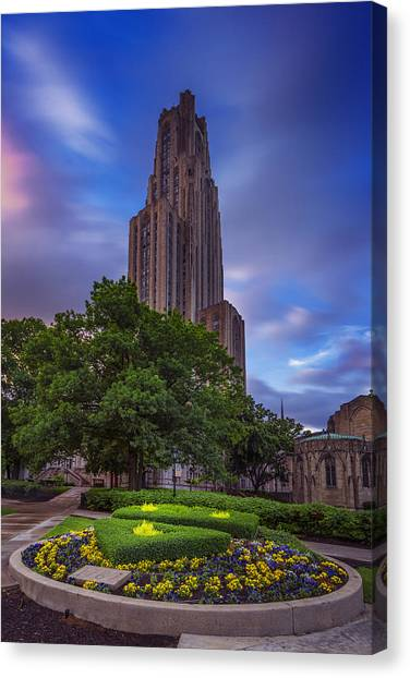 University Of Pittsburgh Canvas Print - The Cathedral Of Learning by Rick Berk