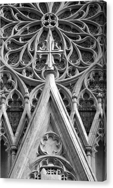 The Cathedral Of St. Patrick Close Up Canvas Print