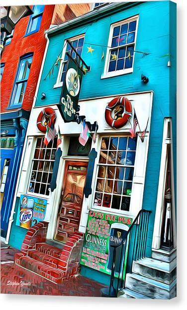 The Cat's Eye Pub Canvas Print