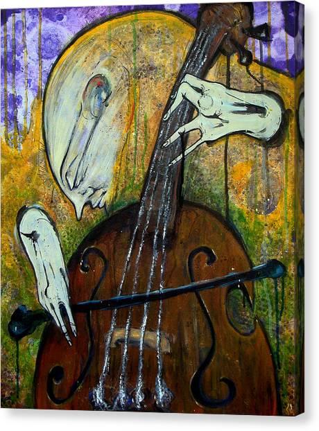 The Celloist Canvas Print by Mark M  Mellon