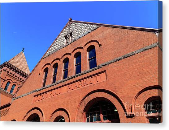 The Central Market Canvas Print