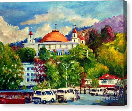 The Central Taxi Terminal In Jayapura Canvas Print