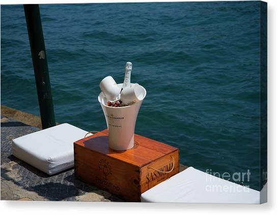 Portofino Cafe Canvas Print - Luxurious Positano by Brenda Kean