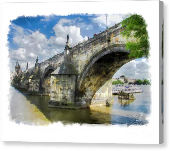 The Charles Bridge - Prague Canvas Print