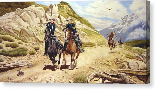 Native Americans Canvas Print - The Chase by Marc Stewart