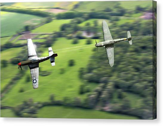 Luftwaffe Canvas Print - The Chase by Mark Donoghue