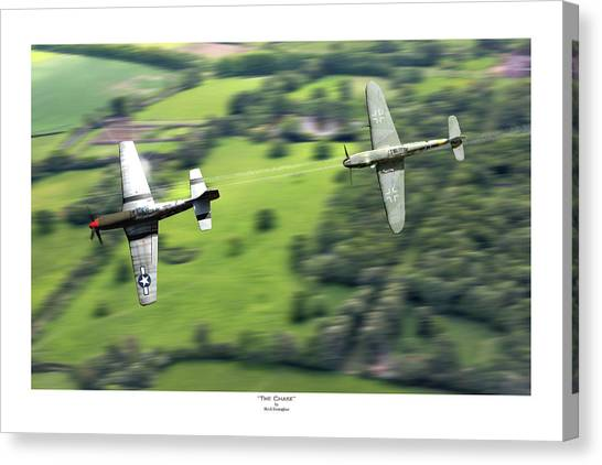P51 Canvas Print - The Chase - Titled by Mark Donoghue