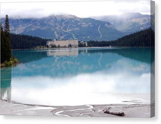 The Chateau At Lake Louise Canvas Print