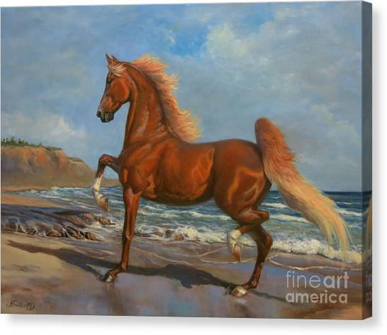 Saddles Canvas Print - The Chestnut Mare by Jeanne Newton Schoborg