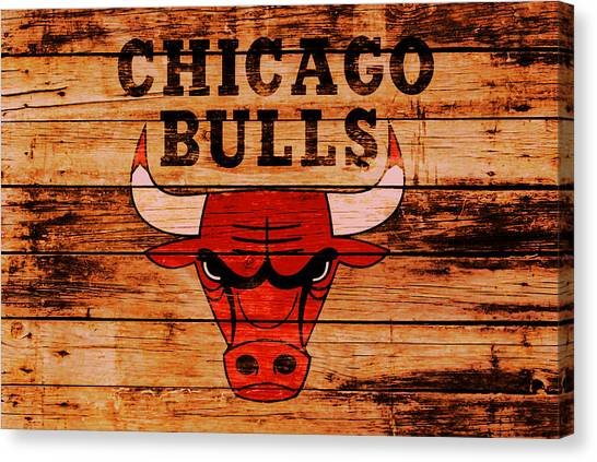 Utah Jazz Canvas Print - The Chicago Bulls 2w by Brian Reaves