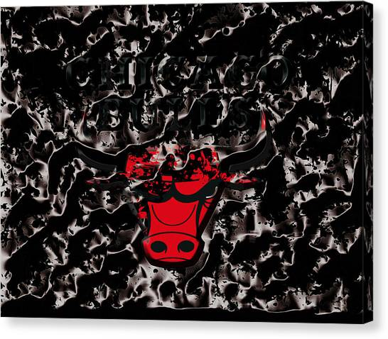 Utah Jazz Canvas Print - The Chicago Bulls 3e by Brian Reaves