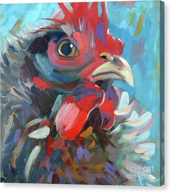 The Chicken King Canvas Print