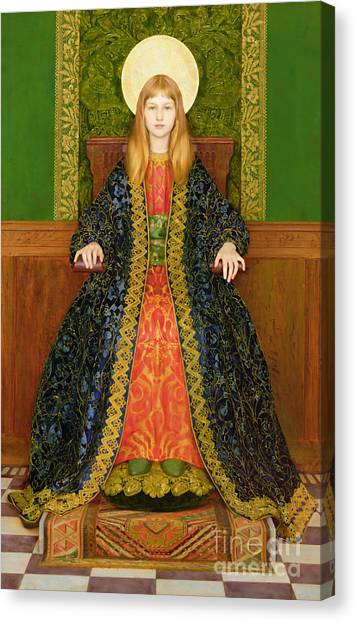 Pre-modern Art Canvas Print - The Child Enthroned by Thomas Cooper Gotch