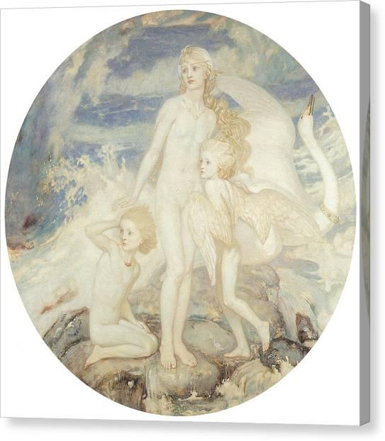 The Children Of Lir Canvas Print by John Duncan