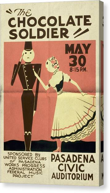 The Chocolate Soldier - Vintage Poster Folded Canvas Print