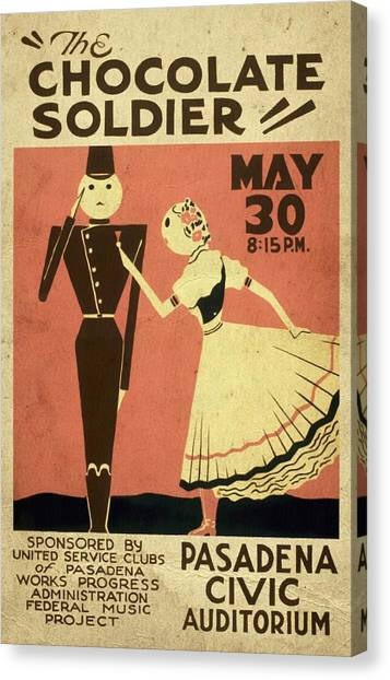 The Chocolate Soldier - Vintage Poster Vintagelized Canvas Print