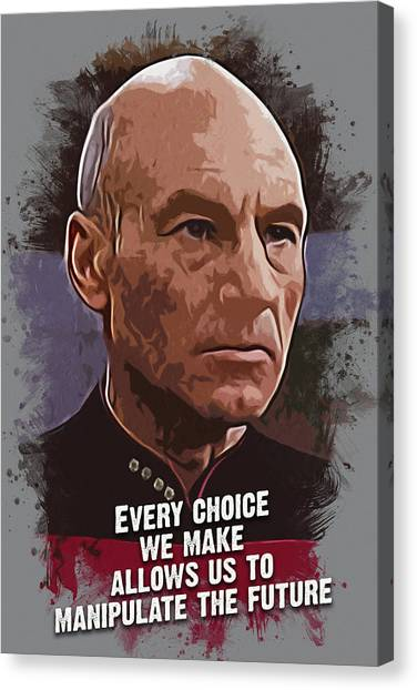 Hollywood Canvas Print - The Choice - Picard by Dusan Naumovski