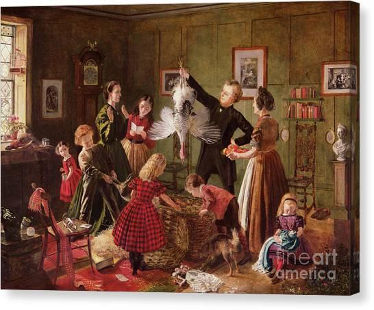 Geese Canvas Print - The Christmas Hamper by Robert Braithwaite Martineau