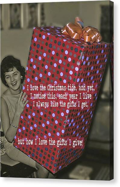 The Christmas Story Quote Canvas Print by JAMART Photography