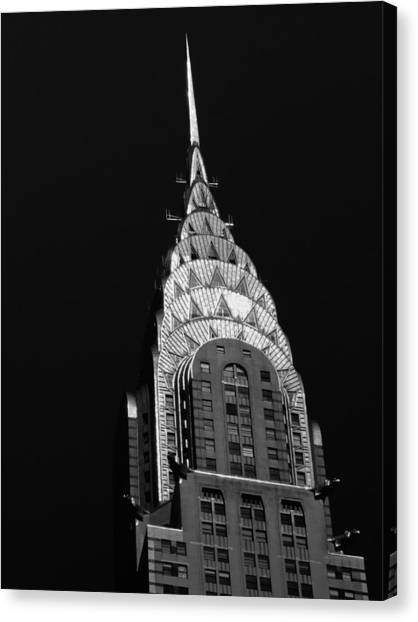 Chrysler Building Canvas Print - The Chrysler Building by Vivienne Gucwa