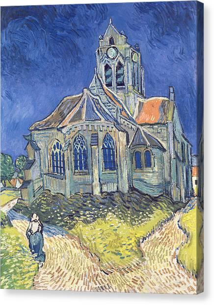 Vincent Van Gogh Canvas Print - The Church At Auvers Sur Oise by Vincent Van Gogh