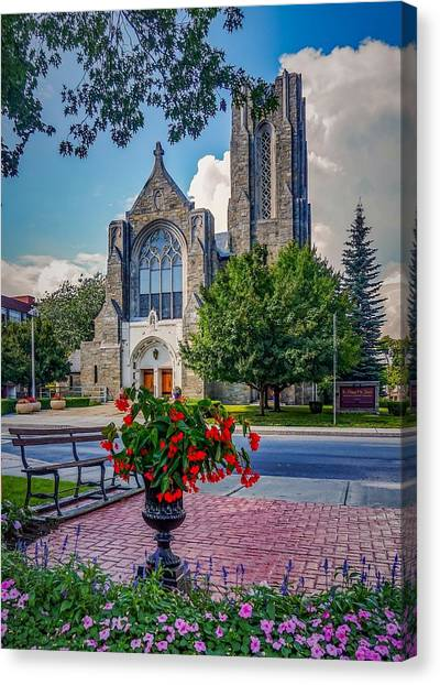 The Church In Summer Canvas Print