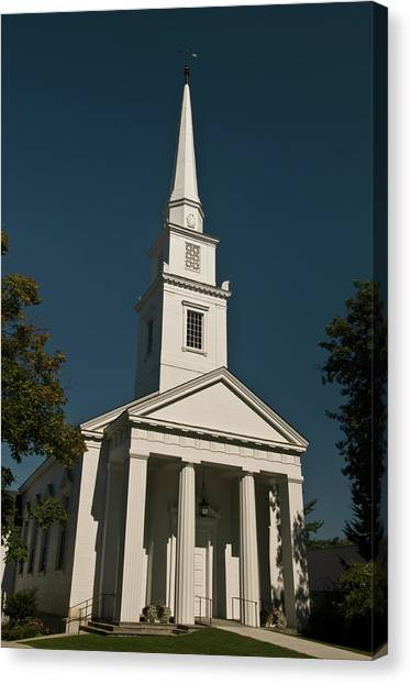 Dartmouth College Canvas Print - The Church Of Christ At Dartmouth College by Paul Mangold