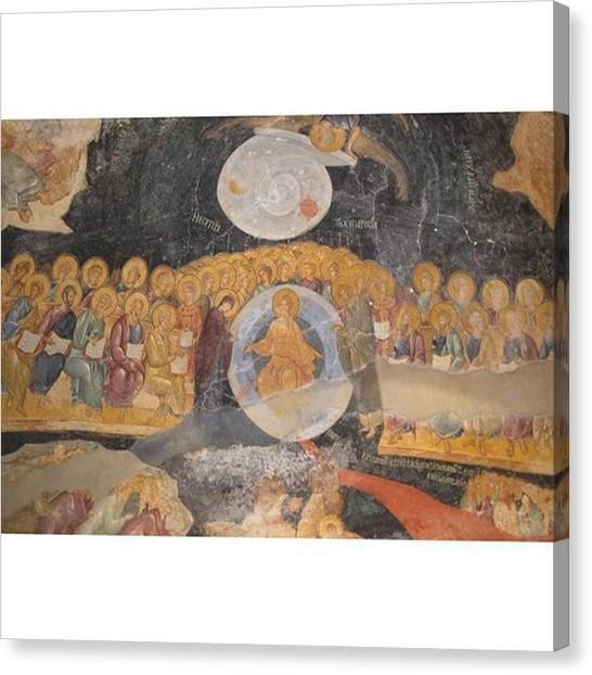 Orthodox Art Canvas Print - The Church Of St. Savior In Chora by Adriano La Naia