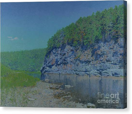 Ural Mountains Canvas Print - The Chusovaya River. A Hot Noon. by Simon Kozhin