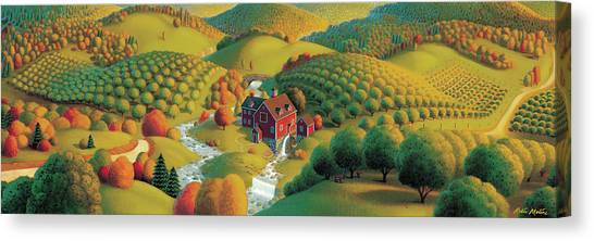 Autumn Scene Canvas Print - The Cider Mill by Robin Moline