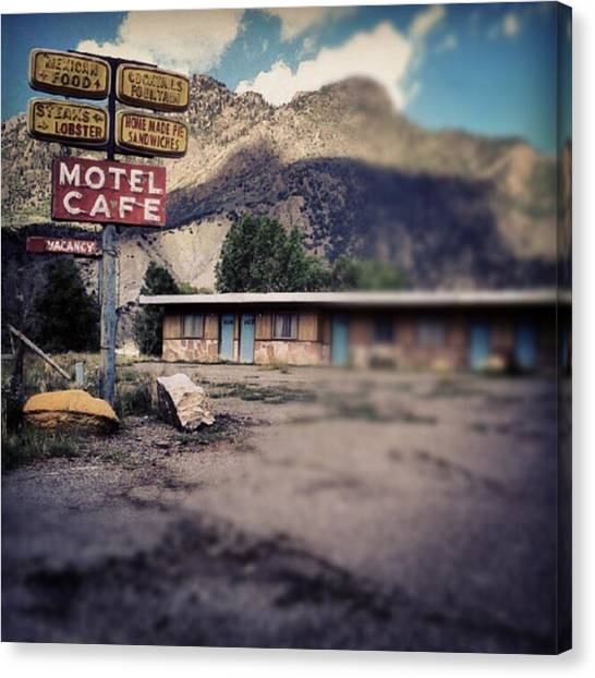 Sandwich Canvas Print - The Cimarron Motel: The Proprietor, A by Ron Meiners
