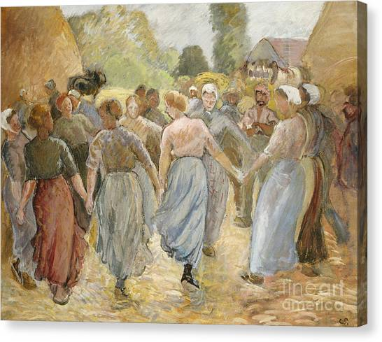 Camille Canvas Print - The Circle by Camille Pissarro