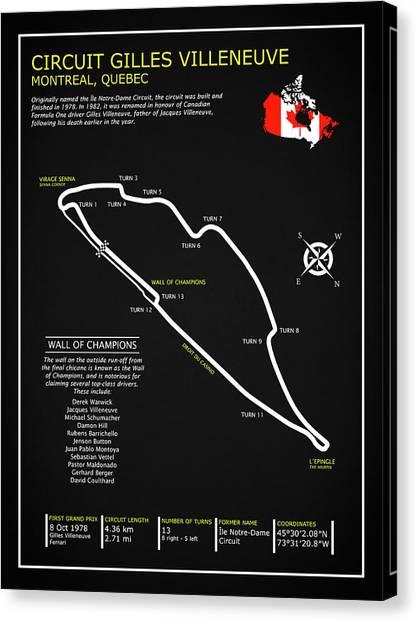 Formula 1 Canvas Print - The Circuit Gilles Villeneuve by Mark Rogan