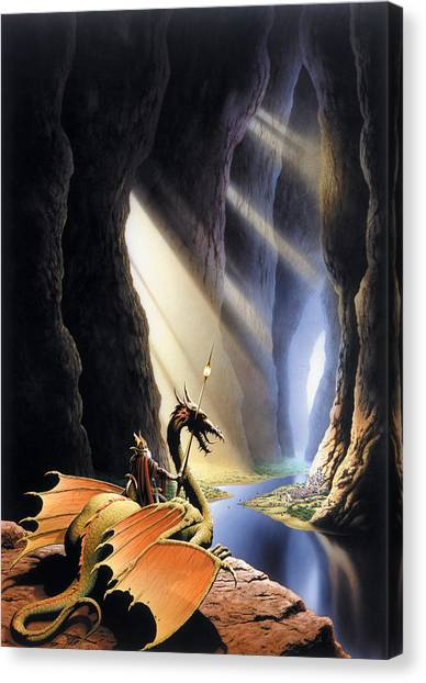 Fantasy Cave Canvas Print - The Citadel by The Dragon Chronicles - Steve Re