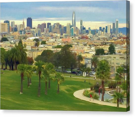 The City From Dolores Park Canvas Print