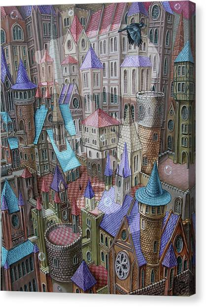 The City Of Crow Canvas Print