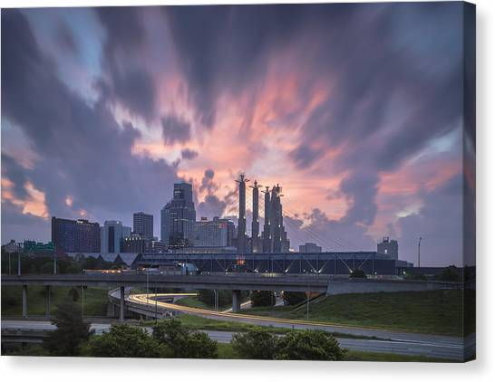 City Sunrises Canvas Print - The City Rises by Ryan Heffron