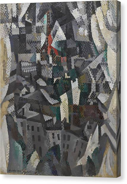 Lyrical Abstraction Canvas Print - The City by Robert Delaunay