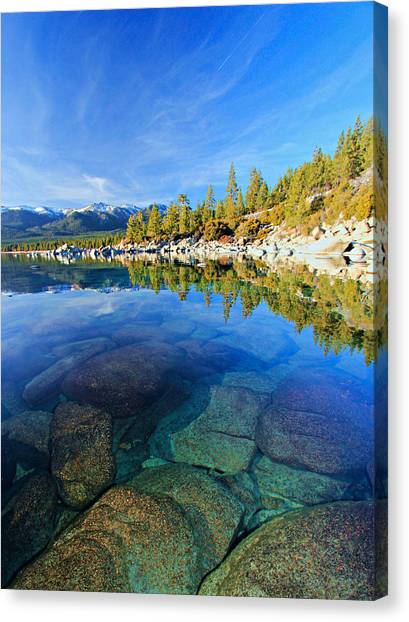 The Clarity Of Lake Tahoe Canvas Print