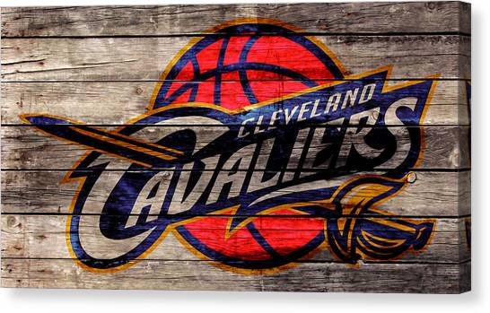 Kyrie Irving Canvas Print - The Cleveland Cavaliers 2w by Brian Reaves