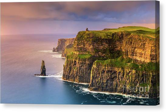 The Cliffs Of Moher Canvas Print - The Cliffs Of Moher - Ireland by Henk Meijer Photography