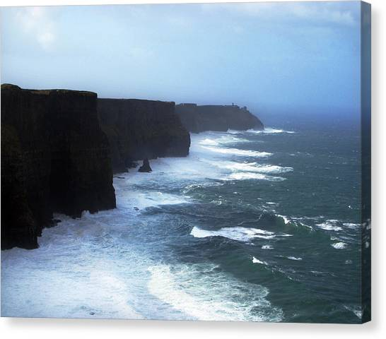 The Cliffs Of Mohr Ireland Canvas Print by Richard Singleton