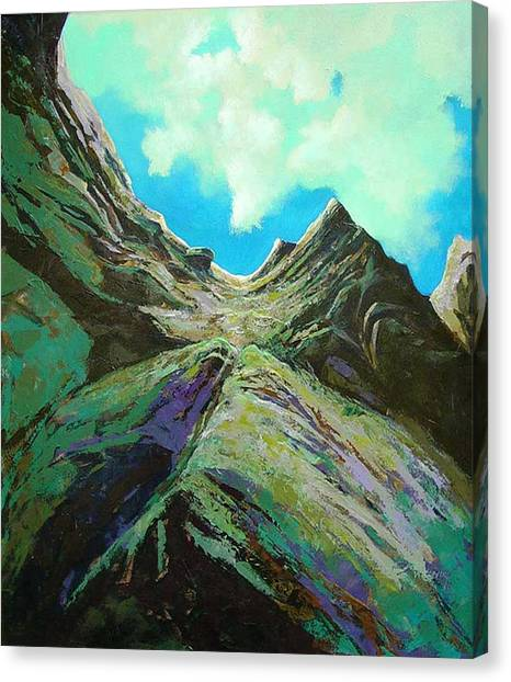 The Climb Canvas Print by Dale  Witherow
