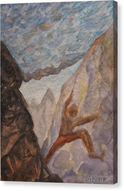 The Climber Canvas Print by Michael Kopf