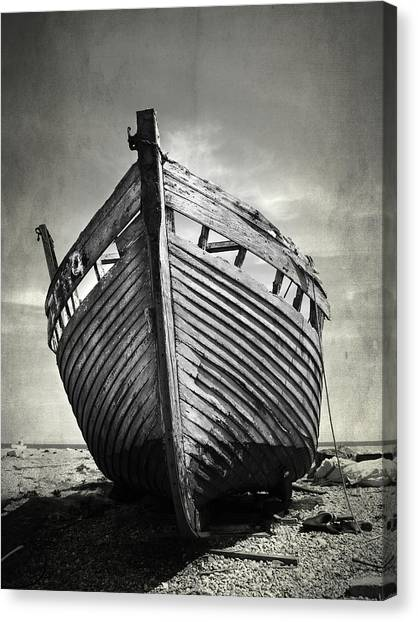 Boat Canvas Print - The Clinker by Mark Rogan