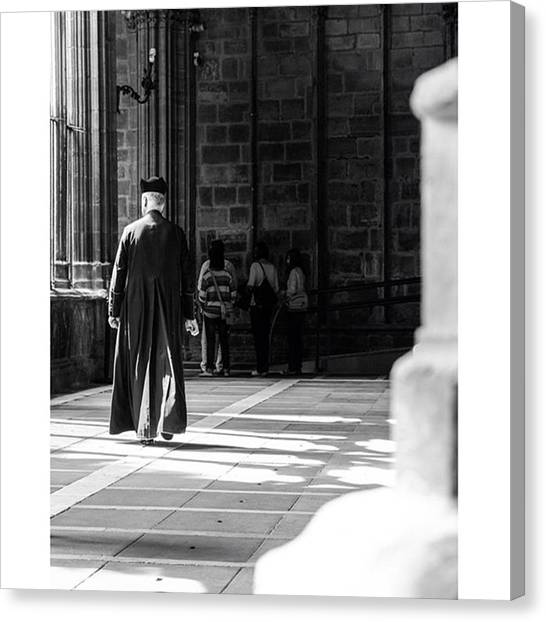 Priests Canvas Print - The Cloister At The Cathedral Santa by Marcelo Valente