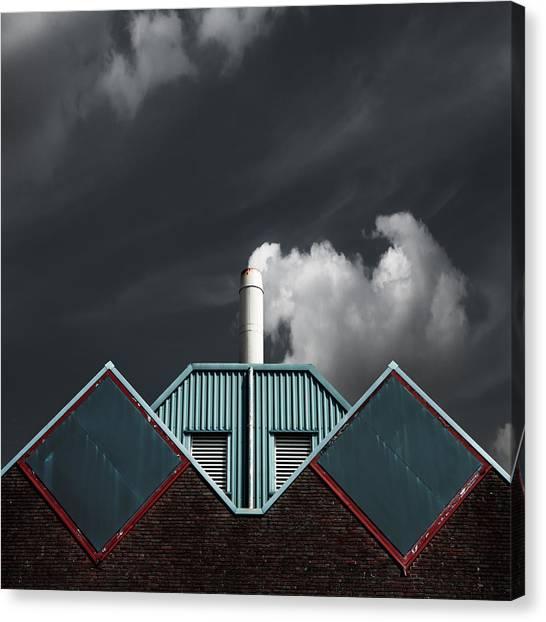 Symmetrical Canvas Print - The Cloud Factory by Gilbert Claes