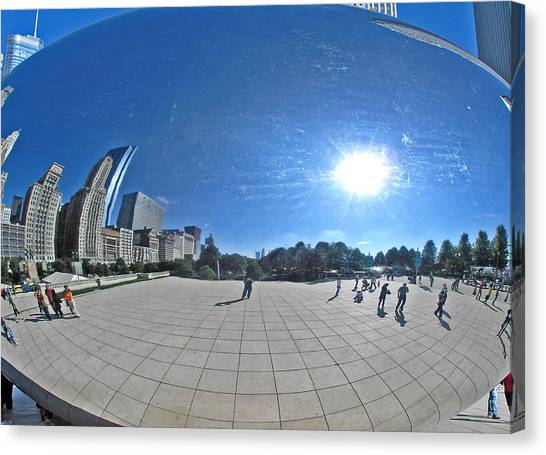 The Cloud Gate In Chicago Canvas Print
