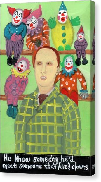 The Clown Collector Is Single Canvas Print